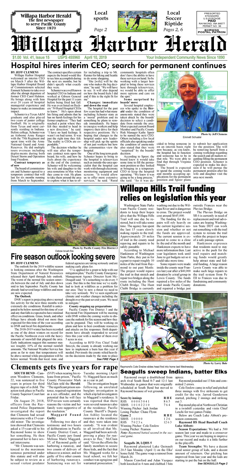 April 10, 2019 Willapa Harbor Herald