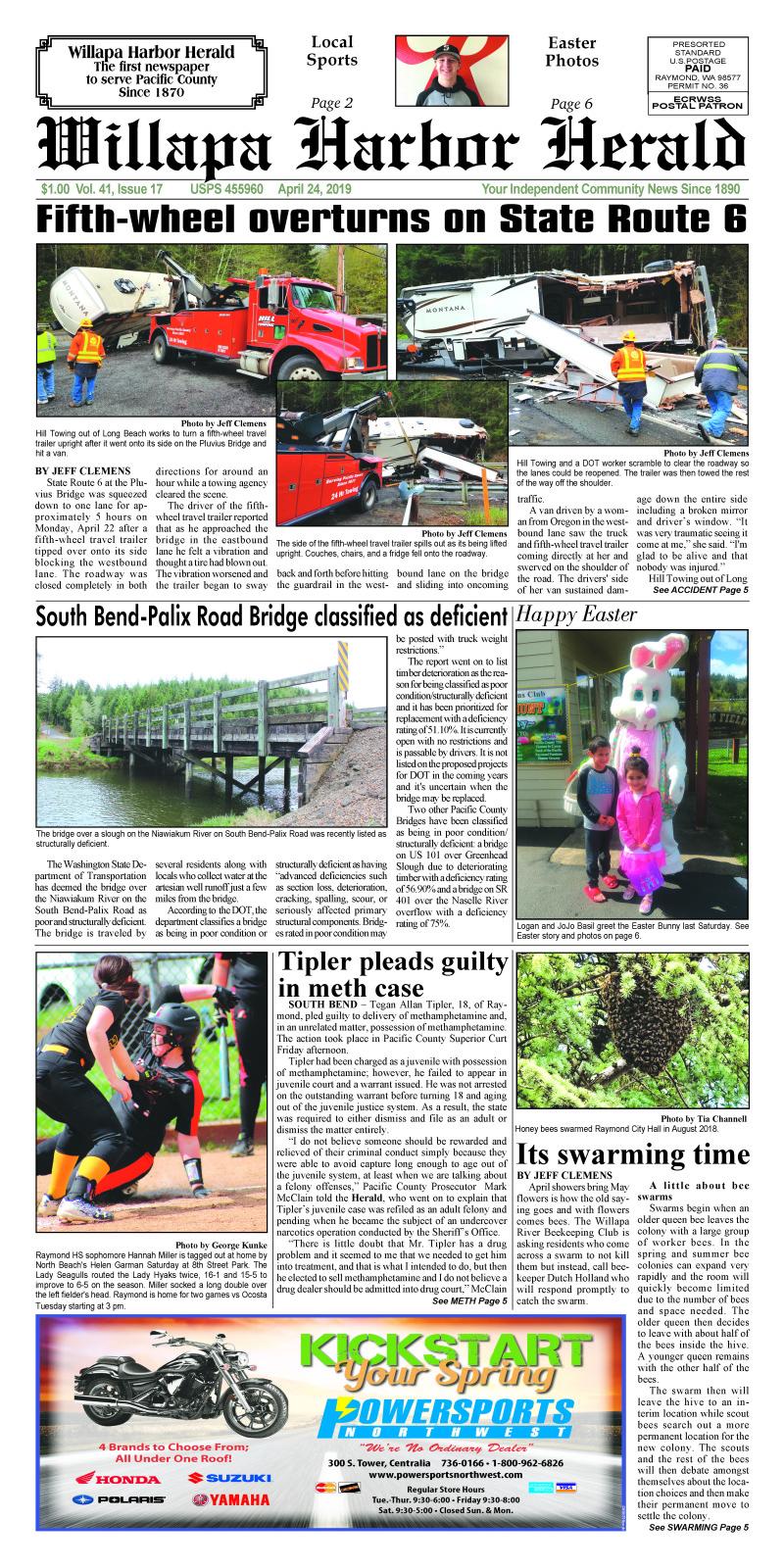 April 24, 2019 Willapa Harbor Herald
