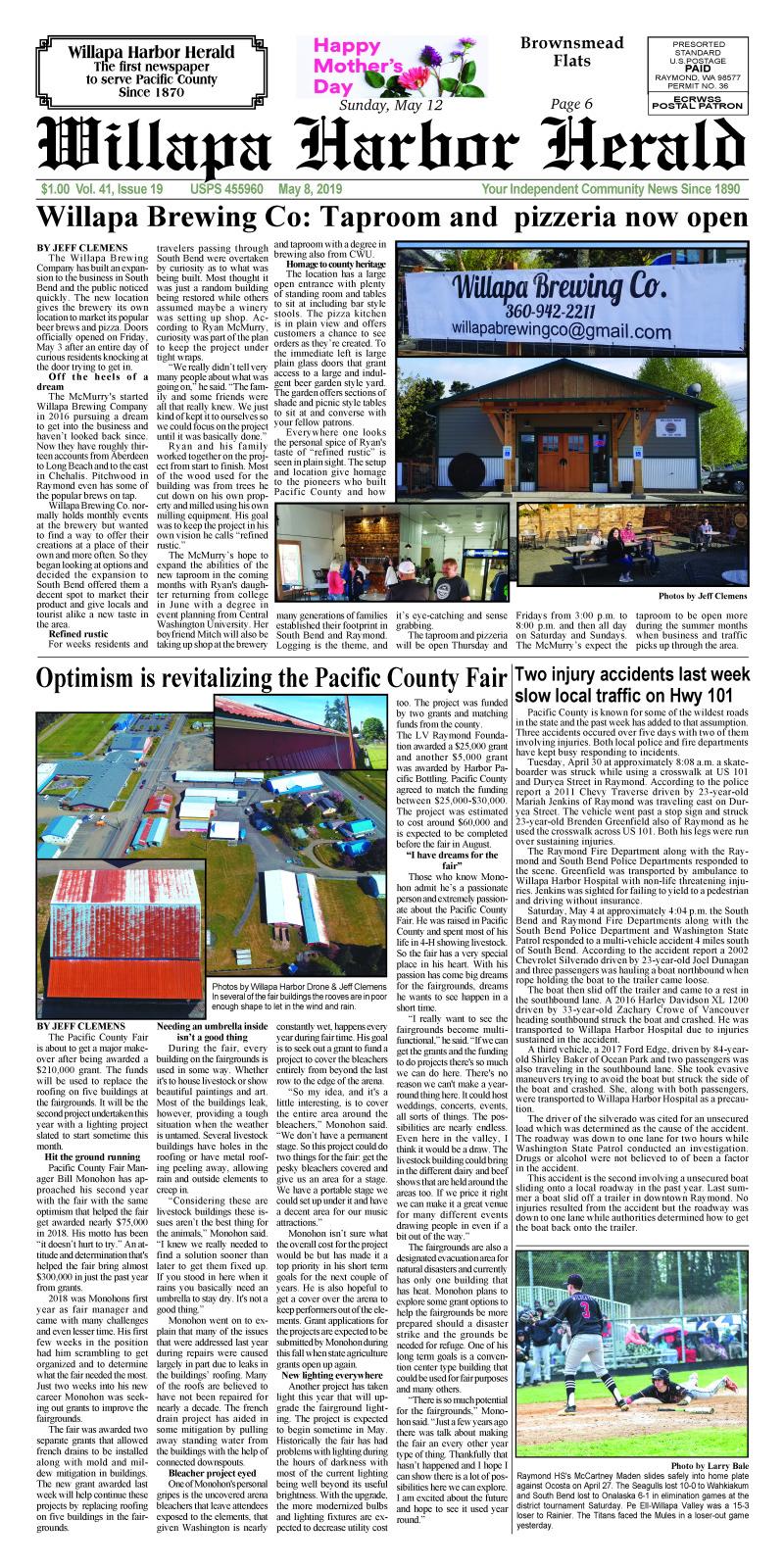 May 8, 2019 Willapa Harbor Herald