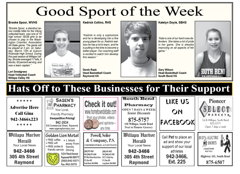 Good Sport of the Week 1.20.16
