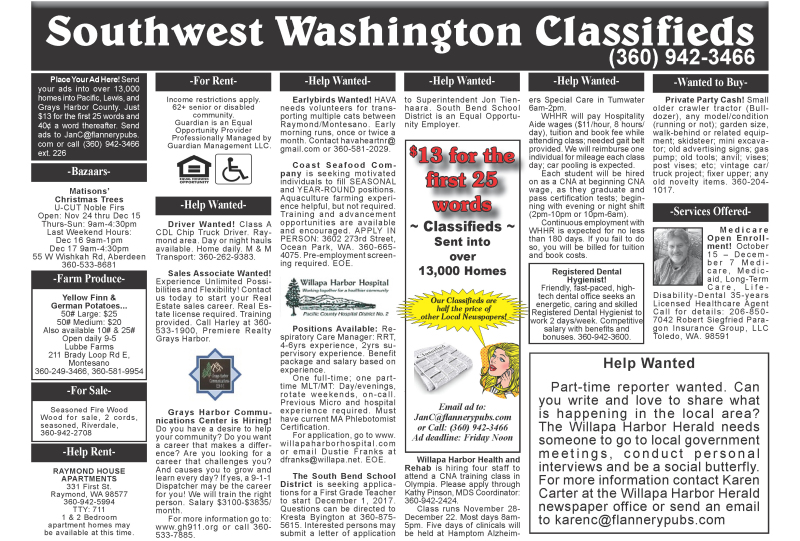 Classifieds 11.22.17