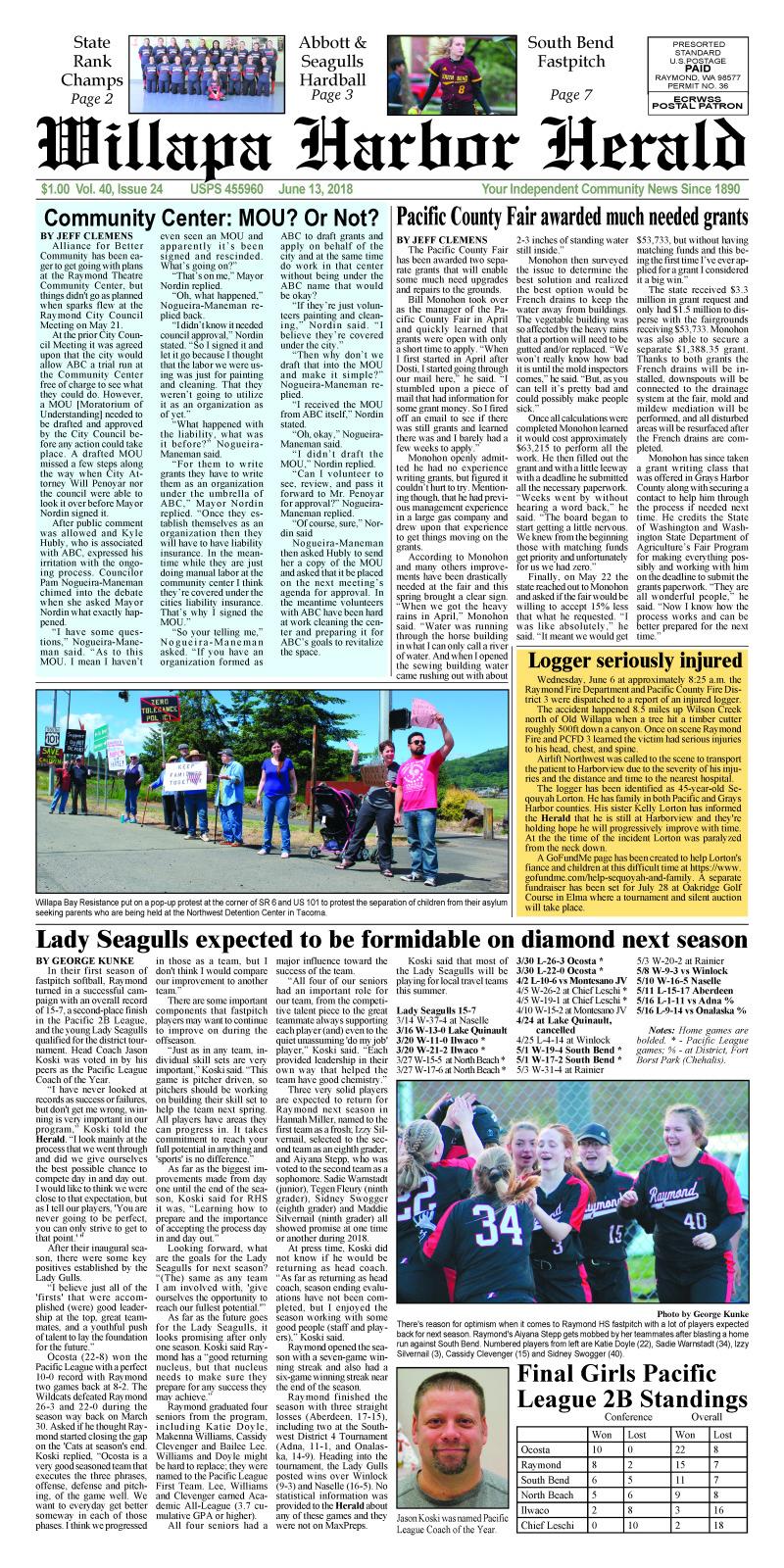 June 13, 2018 Willapa Harbor Herald