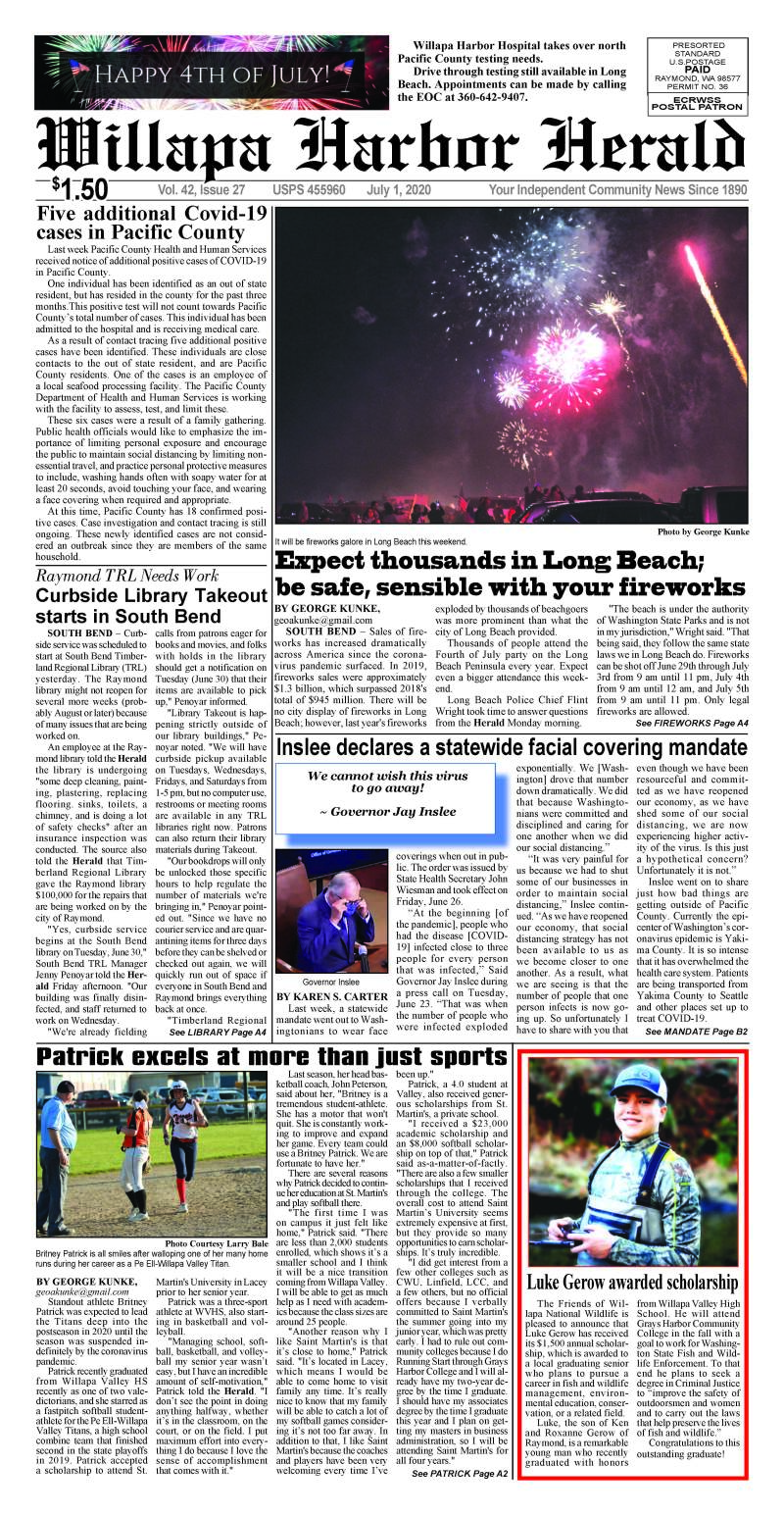 July 1, 2020 Willapa Harbor Herald and Pacific County Press