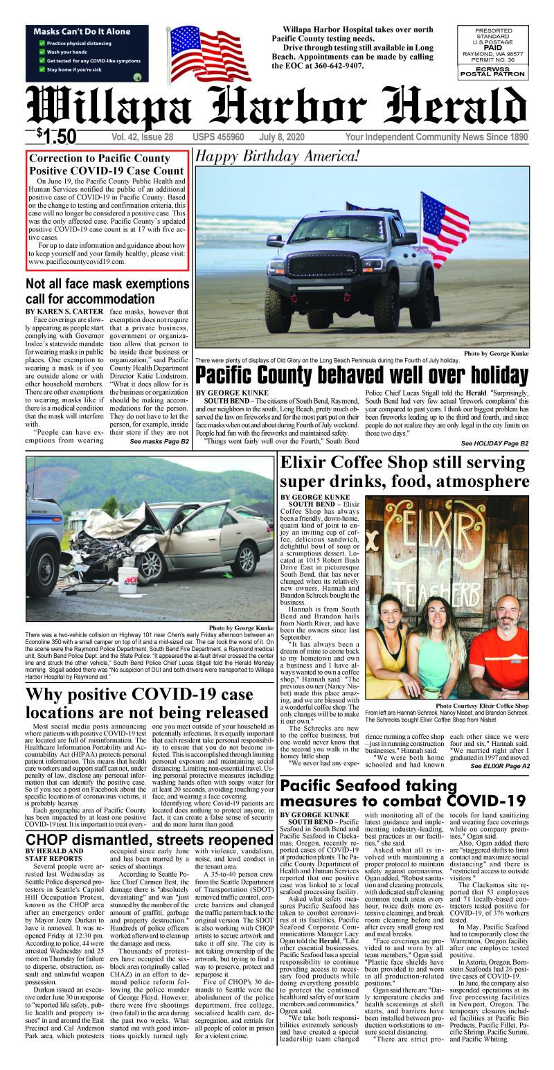 July 8, 2020 Willapa Harbor Herald and Pacific County Press