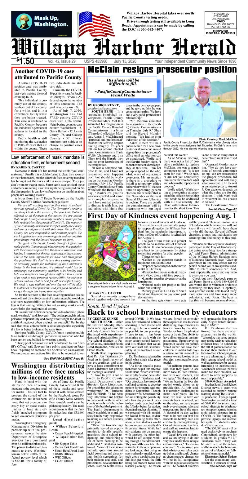 July 15, 2020 Willapa Harbor Herald and Pacific County Press