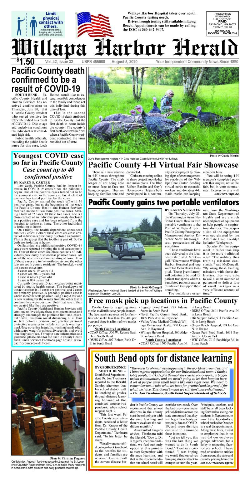August 5, 2020 Willapa Harbor Herald and Pacific County Press