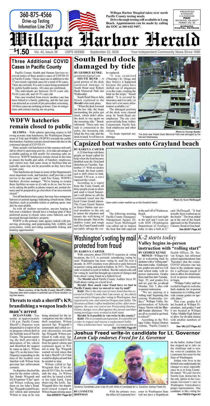 September 23, 2020 Willapa Harbor Herald and Pacific County Press