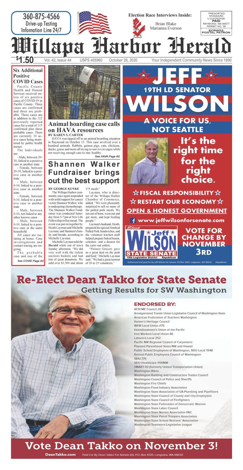 October 28, 2020 Willapa Harbor Herald and Pacific County Press