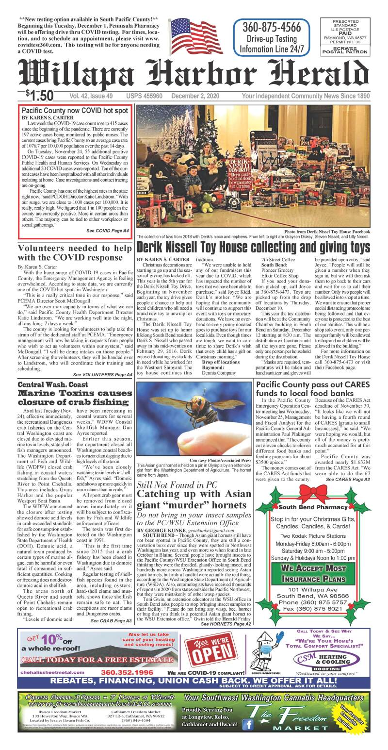 December 2, 2020 Willapa Harbor Herald and Pacific County Press