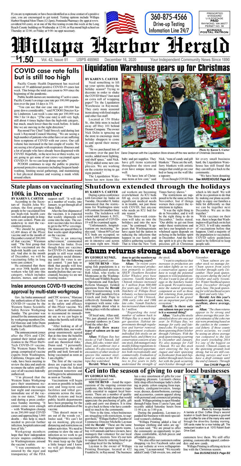 December 16, 2020 Willapa Harbor Herald and Pacific County Press