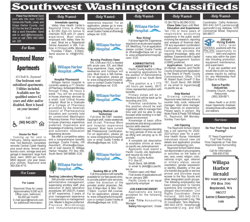 Classifieds 1.13.21