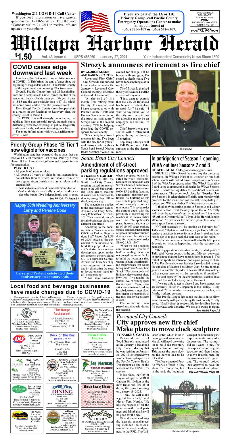 January 27, 2021 Willapa Harbor Herald and Pacific County Press