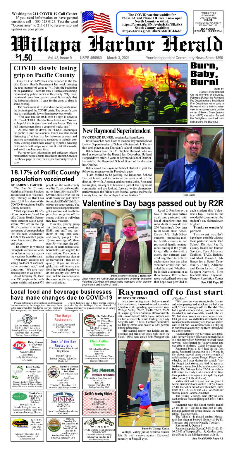March 3, 2021 Willapa Harbor Herald and Pacific County Press