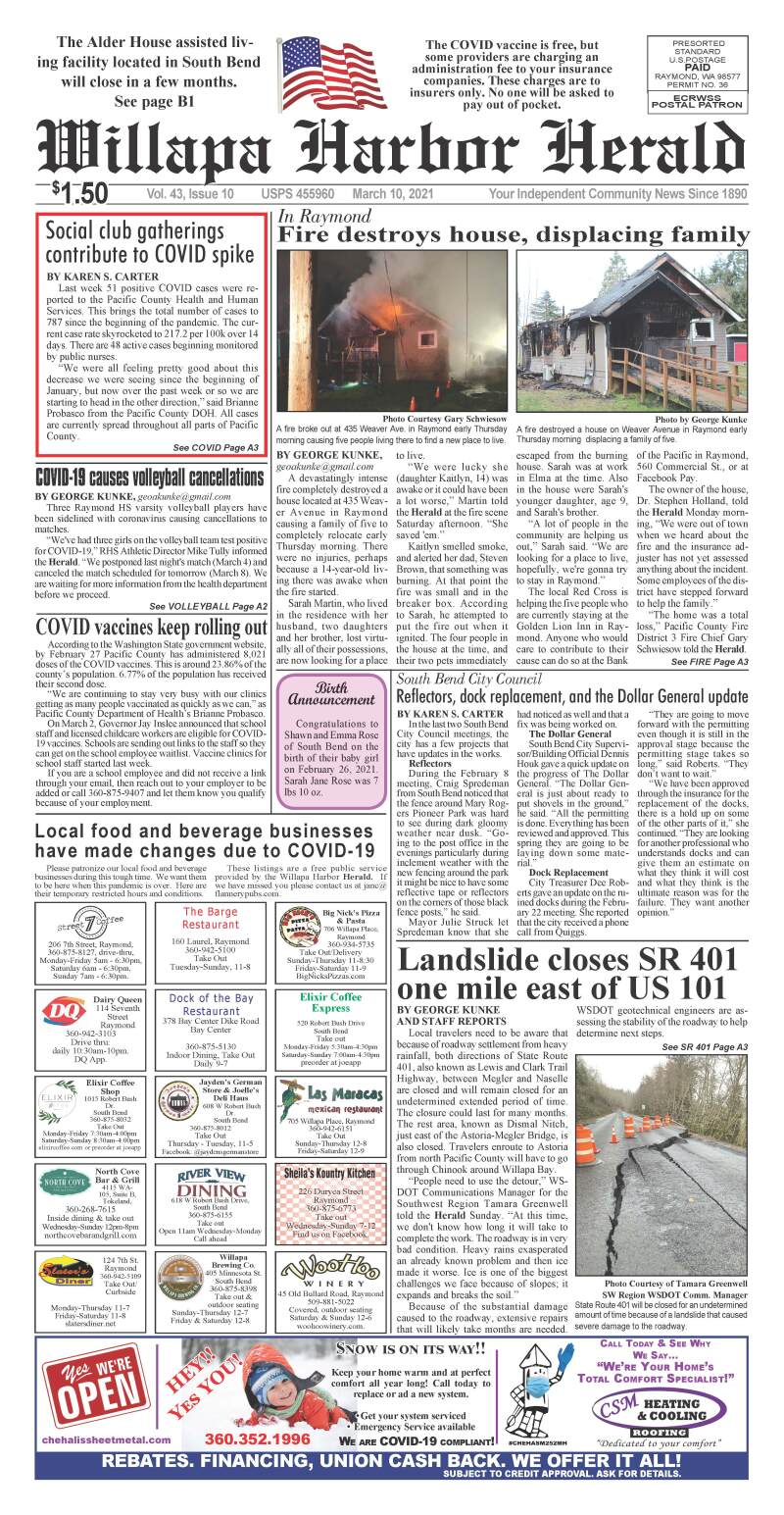 March 10, 2021 Willapa Harbor Herald and Pacific County Press