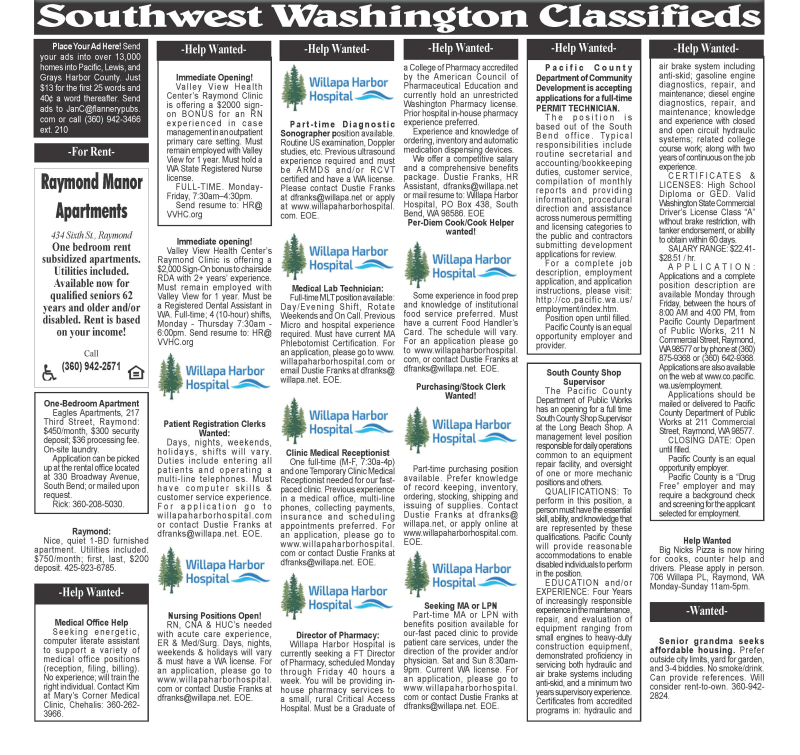 Classifieds 3.17.21
