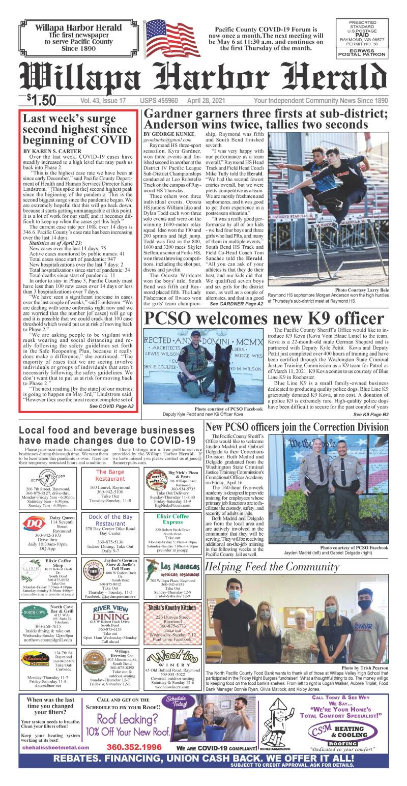 April 28, 2021 Willapa Harbor Herald and Pacific County Press