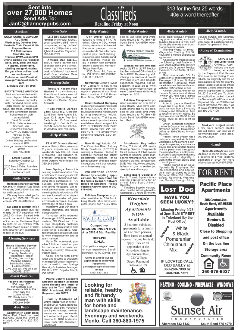 Classifieds 10-19-16