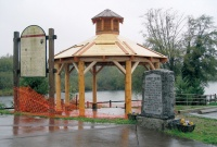 Grant-funded gazebo being installed at Toledo boat launch