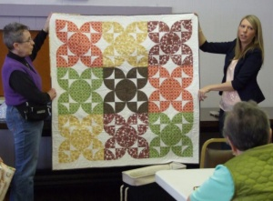 Quilting author visits Raymond