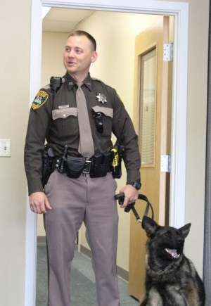 Commissioners meet new recruit