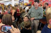 Reptile Man charms kids at Winlock Library