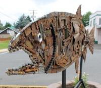 Volunteers complete new Toledo sculpture