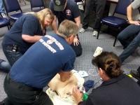 Responders practice High Density CPR