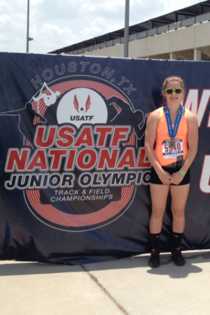 Freeman places first in discus at National Junior Olympics