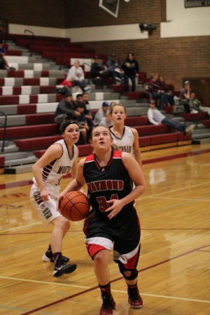 Raymond girls battle Montesano