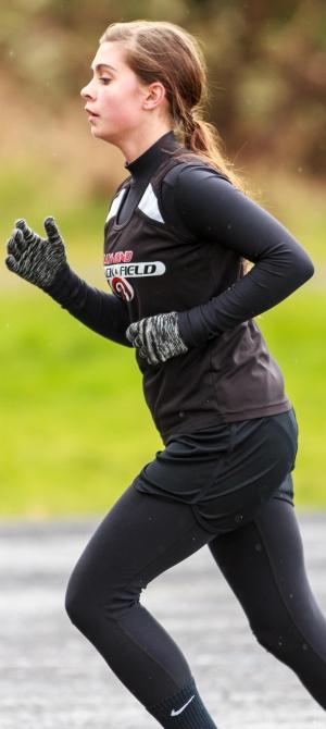 Courtney Hagain sets school record