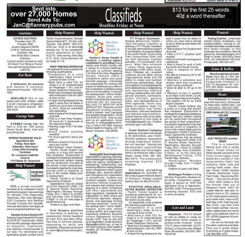 Classifieds 4.6.16