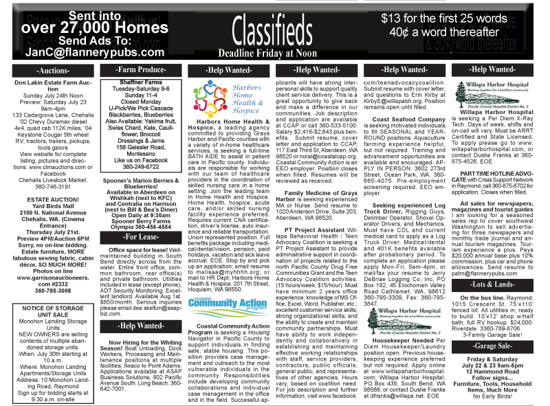 Classifieds 7.20.16