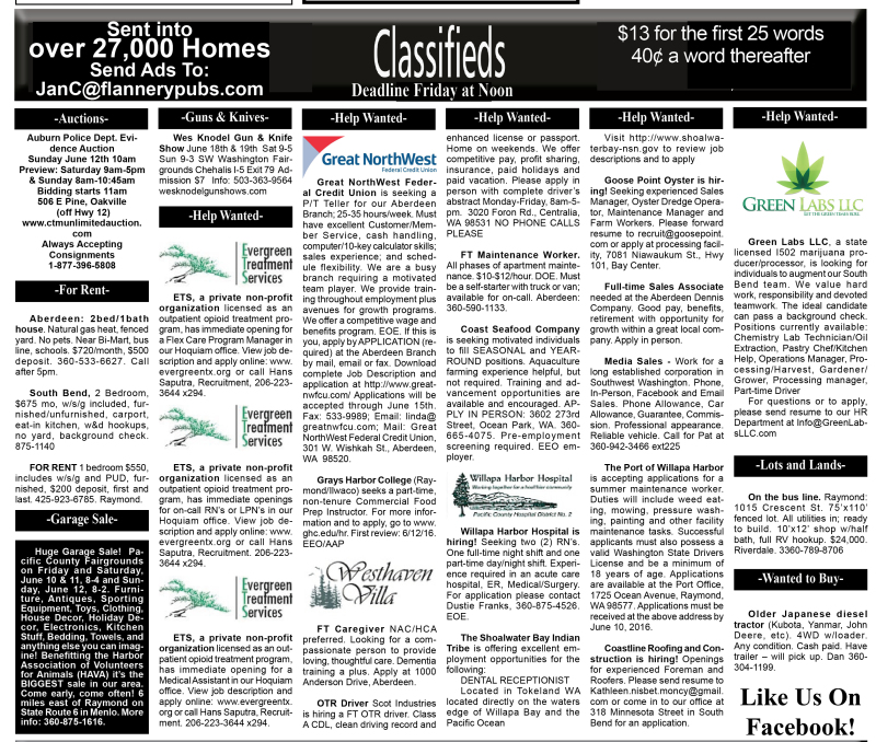 Classifieds 6.8.16