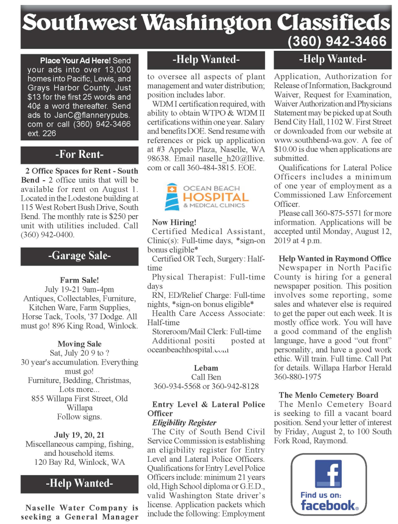 Classifieds 7-17-19