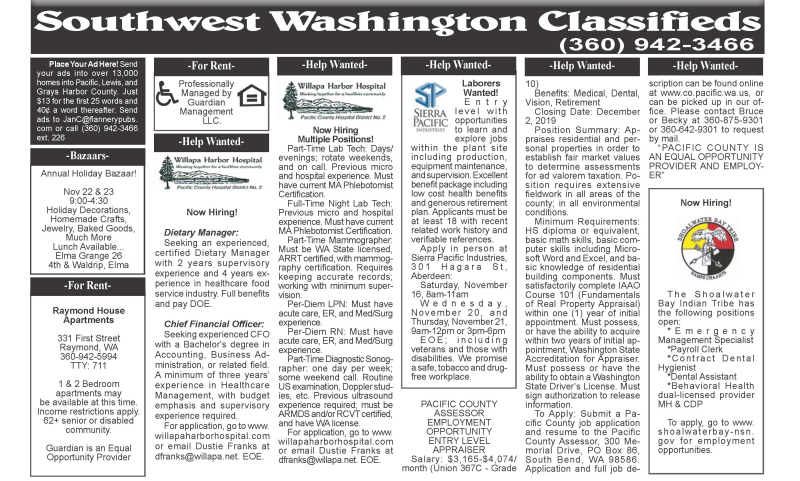 Classifieds 11.20.19