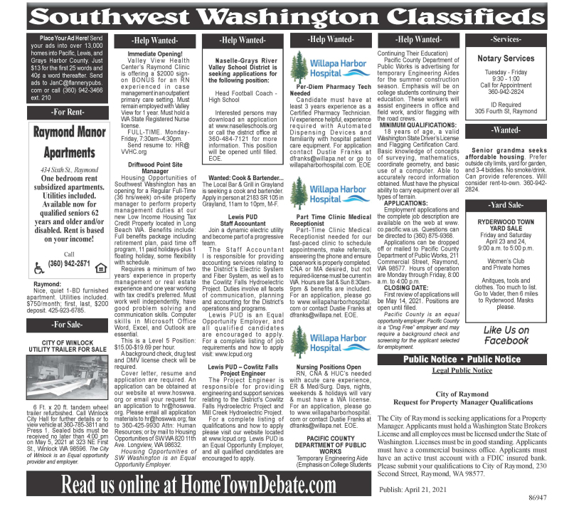 Classifieds 4.21.21