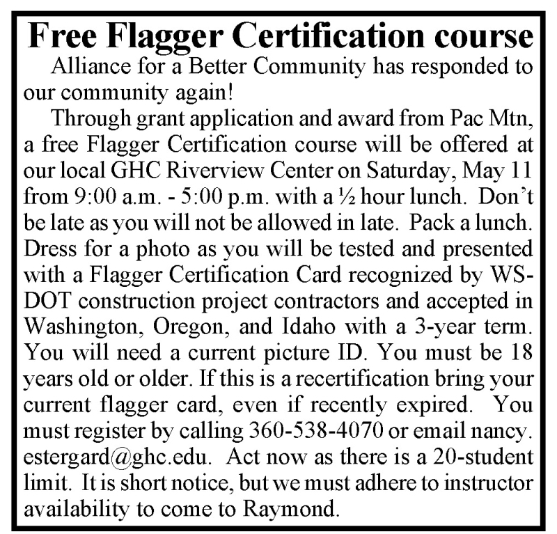 Free flagger class