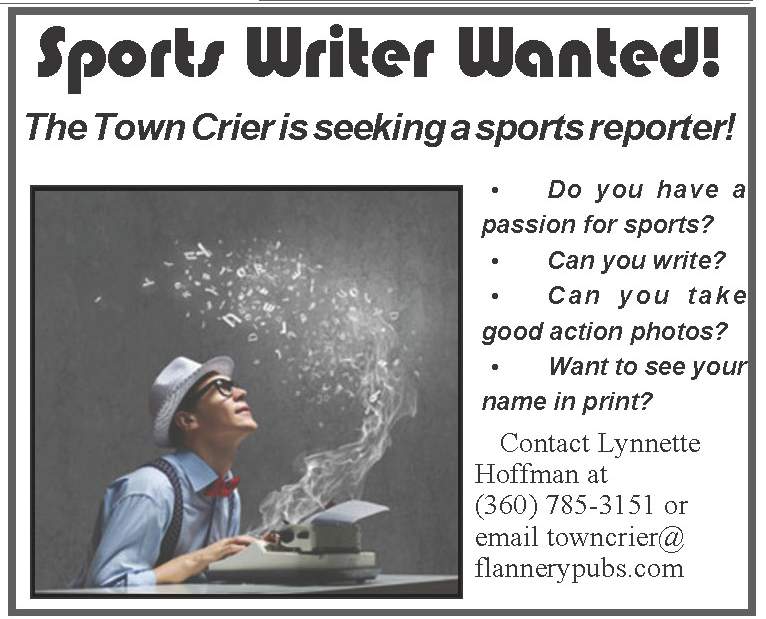 Town Crier looking for Sports Writer