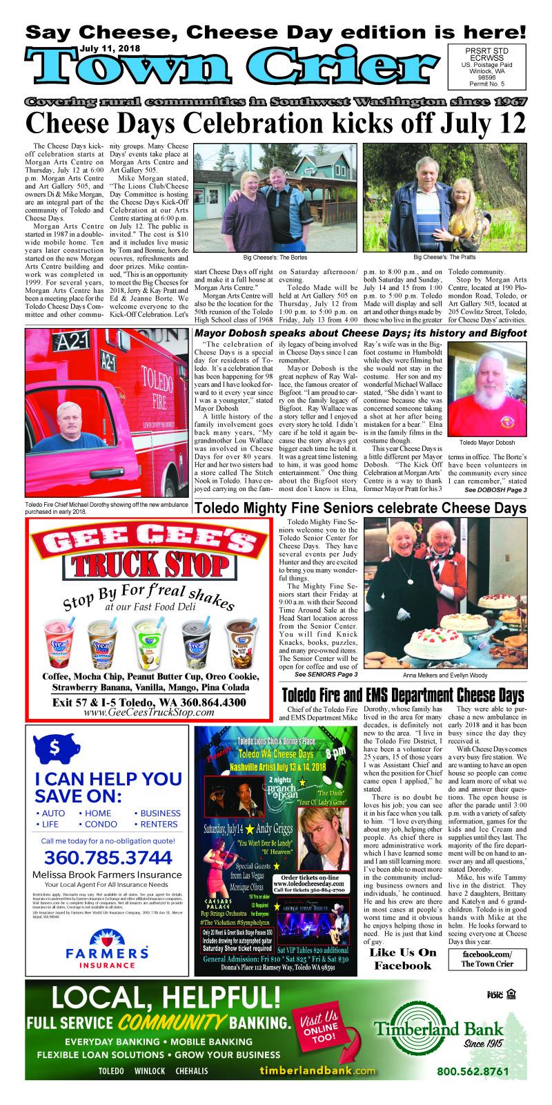 July 11, 2018 Town Crier