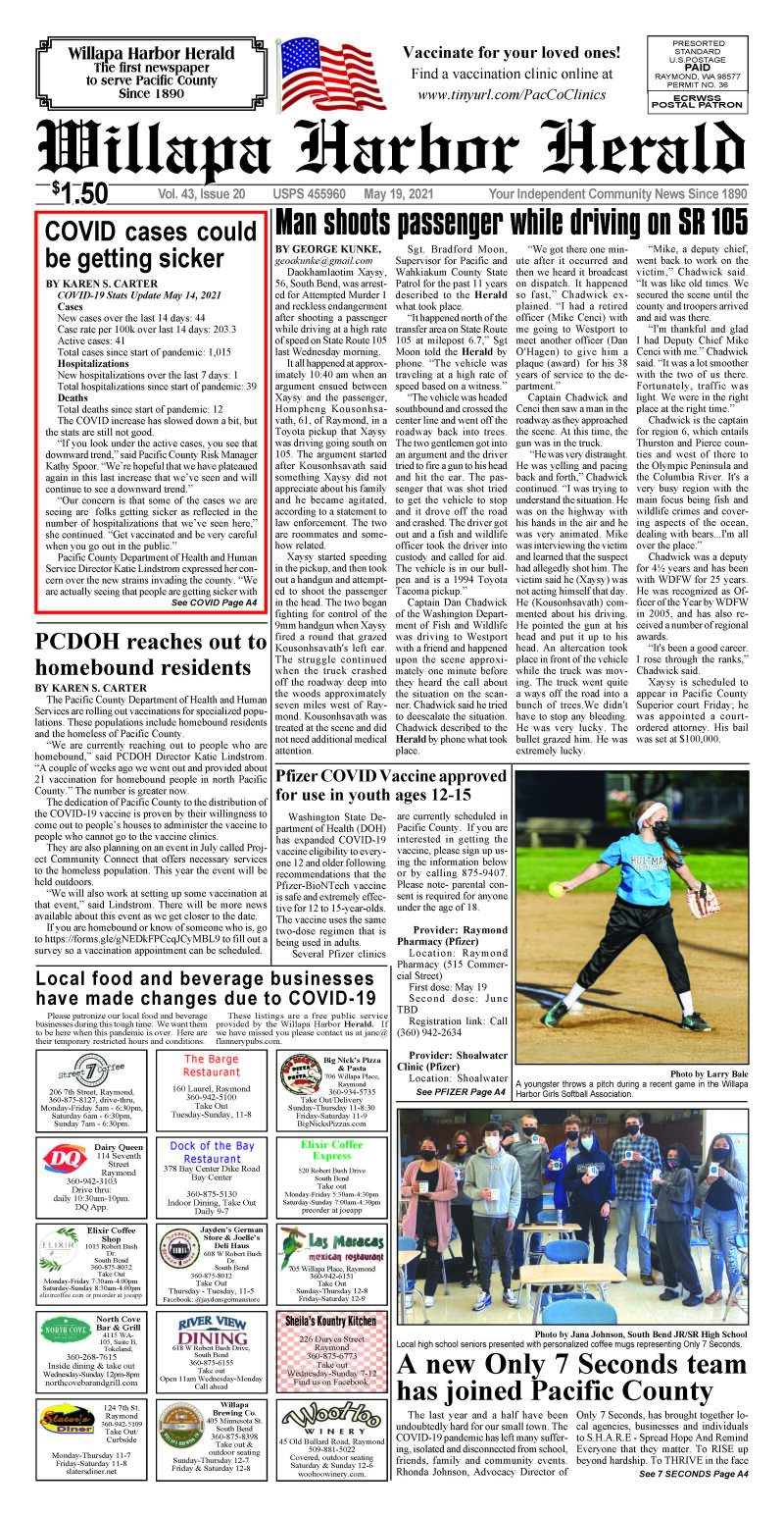 May 19, 2021 Willapa Harbor Herald and Pacific County Press