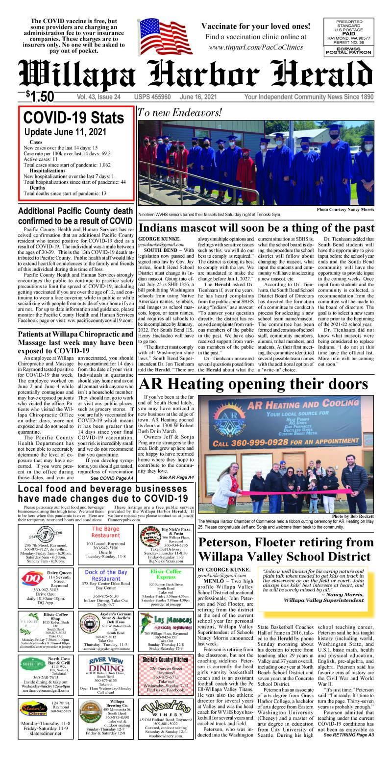 June 16, 2021 Willapa Harbor Herald and Pacific County Press