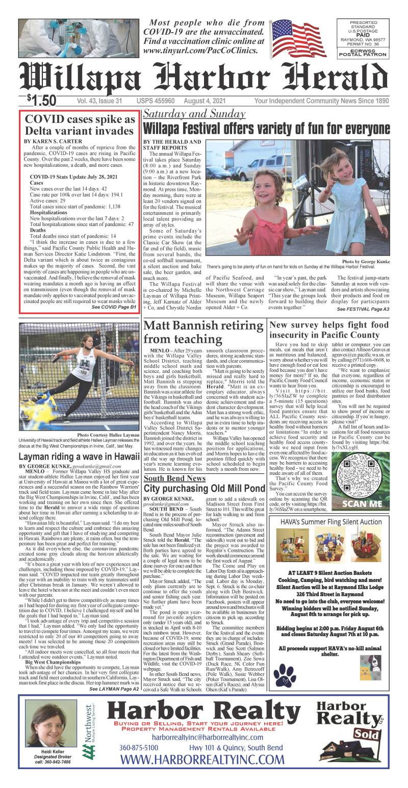 August 4, 2021 Willapa Harbor Herald and Pacific County Press