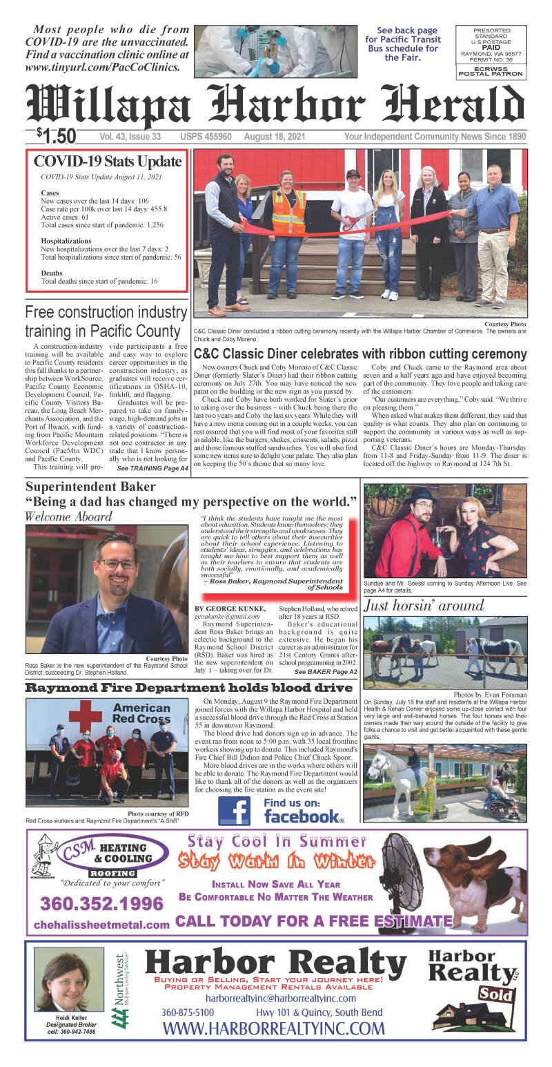 August 18, 2021 Willapa Harbor Herald and Pacific County Press