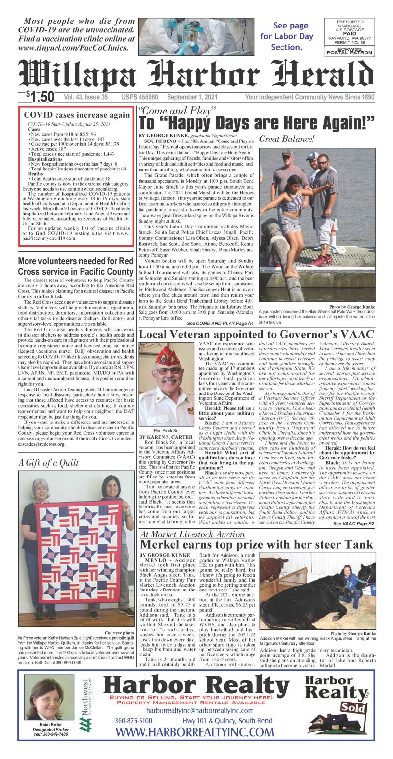 September 1, 2021 Willapa Harbor Herald and Pacific County Press