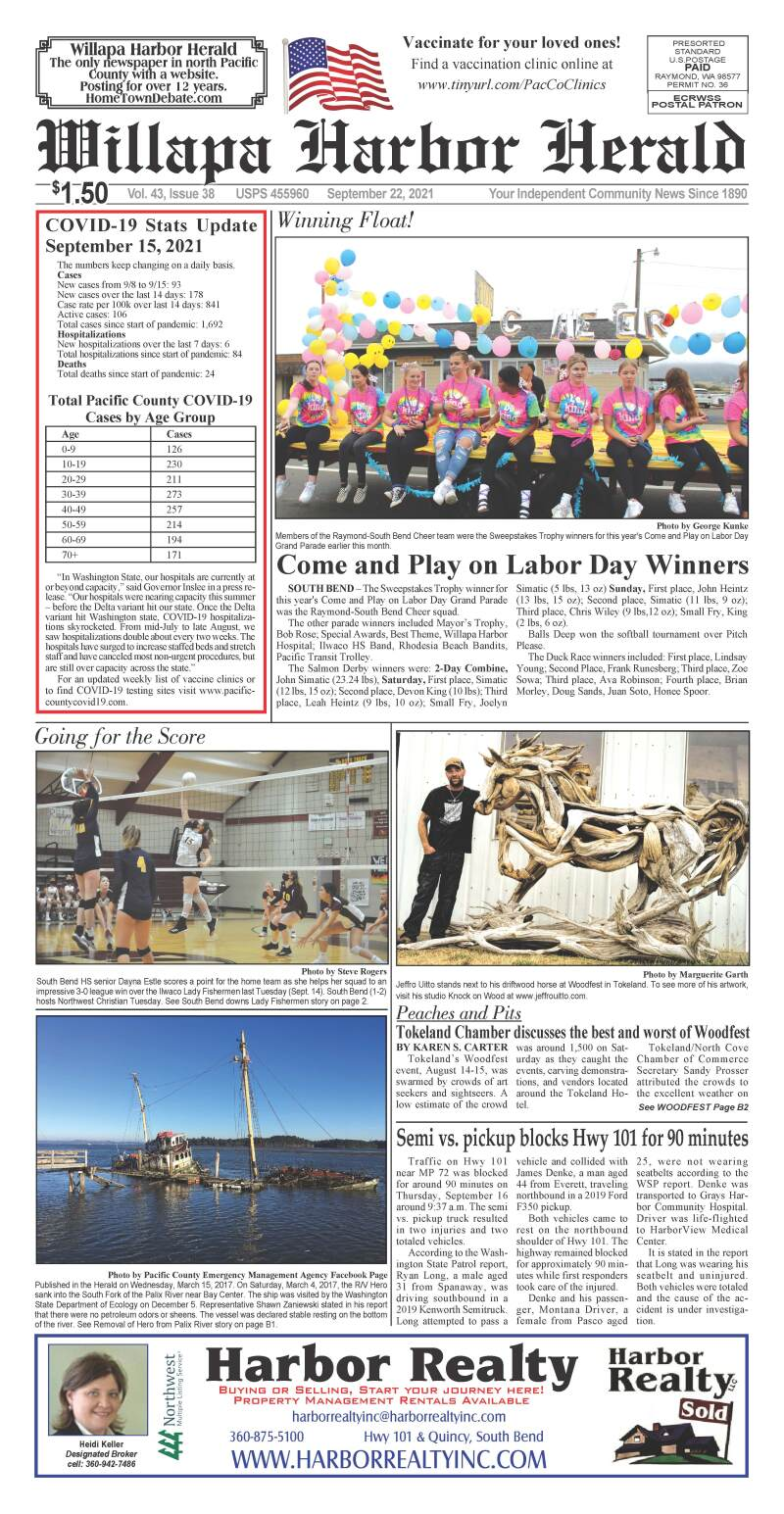 September 22, 2021 Willapa Harbor Herald and Pacific County Press