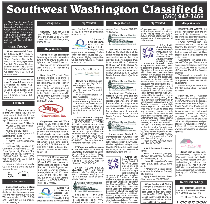 Classifieds 6.28.17