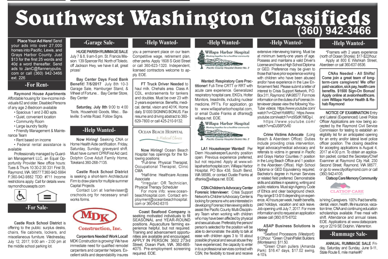 Classifieds 7.5.17