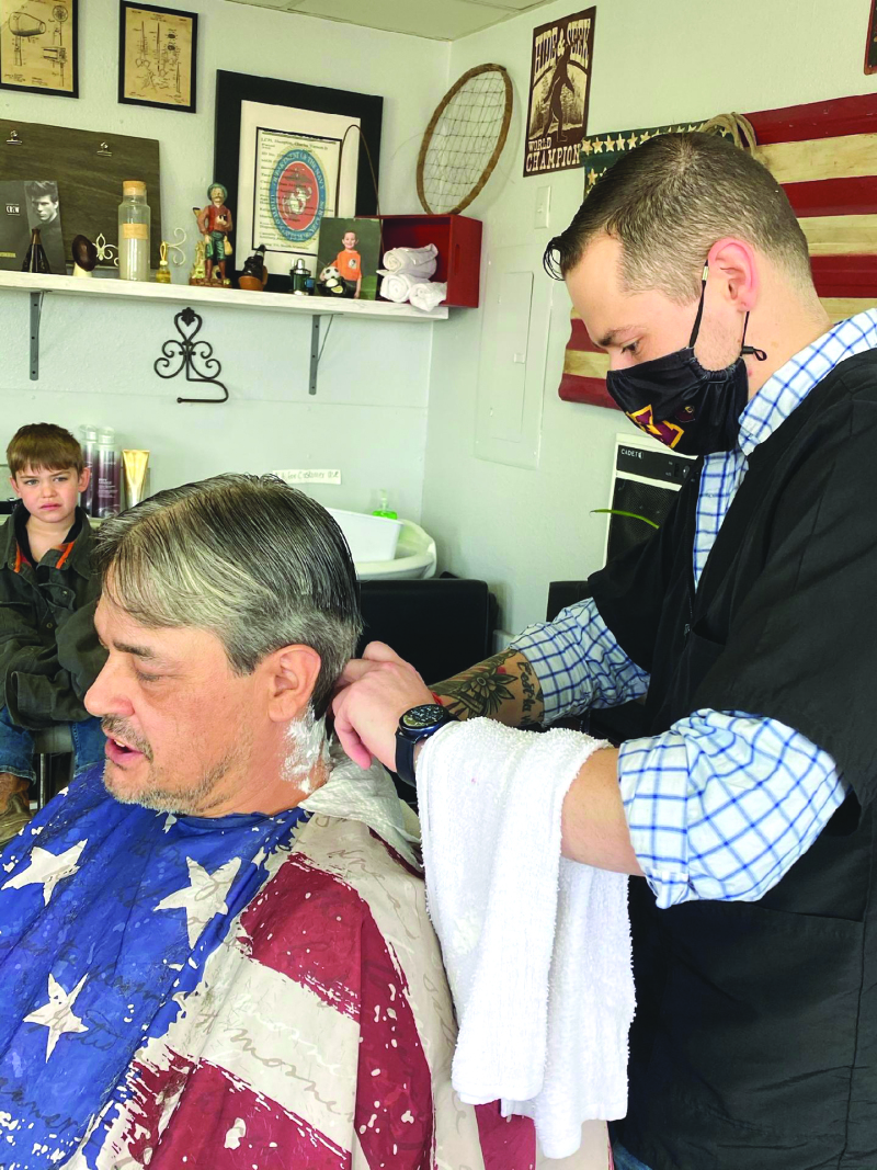 The Barber And His Daughter barbershop has it all