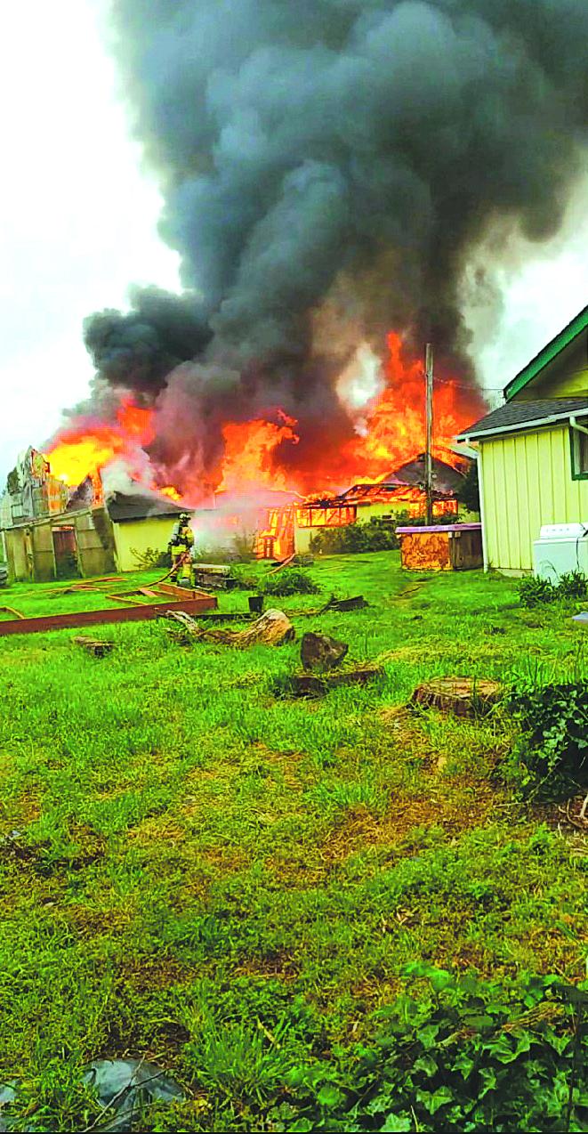 Winlock structure fire on Morton Road
