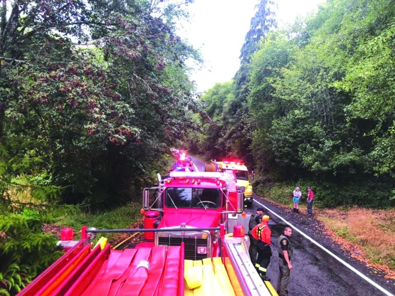 Fire on Mill Creek road required big response